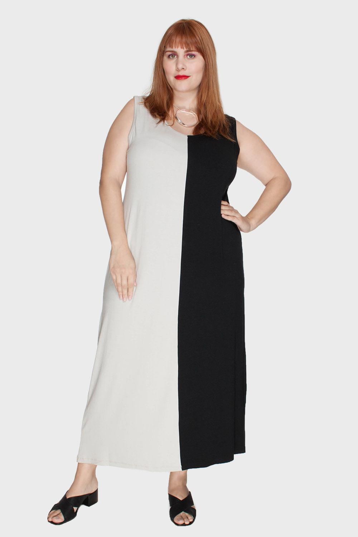 Vestido-Midi-Bicolor-Plus-Size_T1