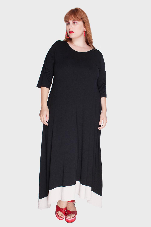 Vestido-Longo-Barra-Bicolor-Plus-Size_T1