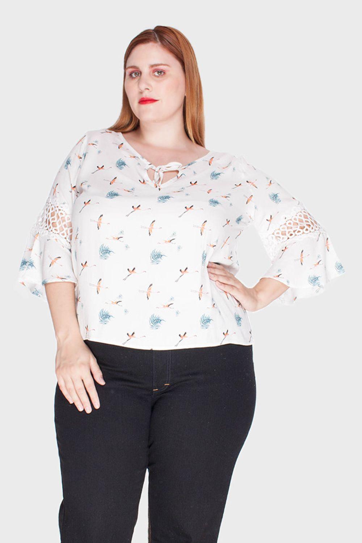 Blusa Garça Plus Size
