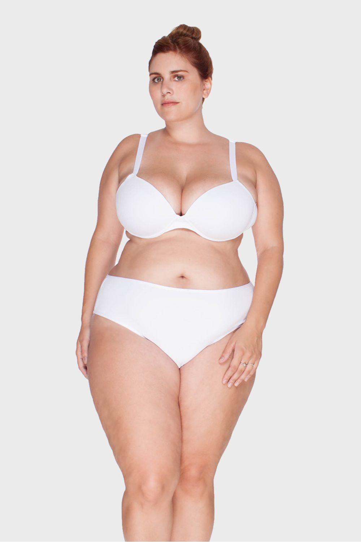 e6e64eda0 Calcinha Básica Comfort Plus Size - Branco-46