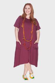 13f99e23b9 t1 · t2 · Vestido Evasê com Bolsos Plus Size