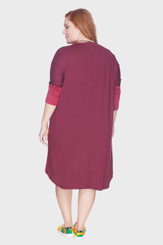 2eb75d1870de Vestido Mullet Plus Size - Vermelho-46/48