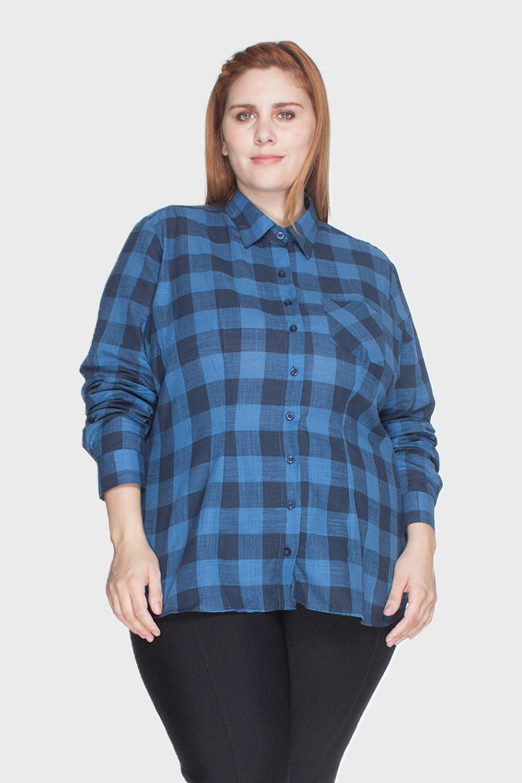 Camisa Xadrez 100% Algodão Plus Size