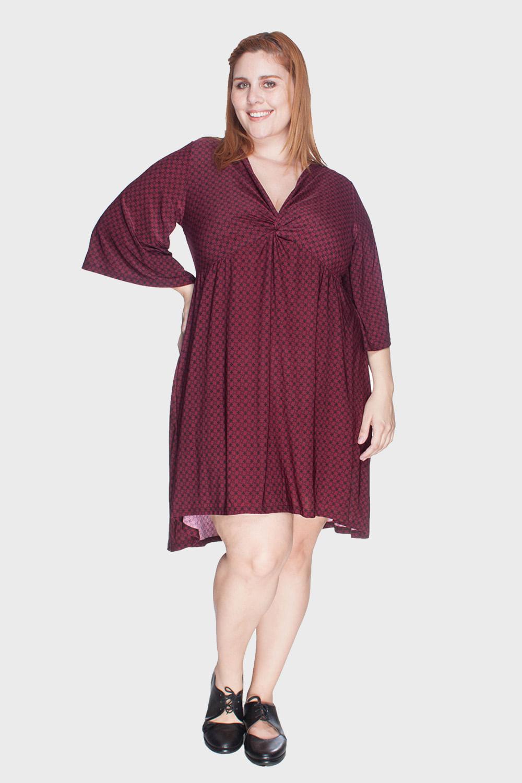 d43566453b09 Vestido Estampado Jersey Plus Size - Flaminga
