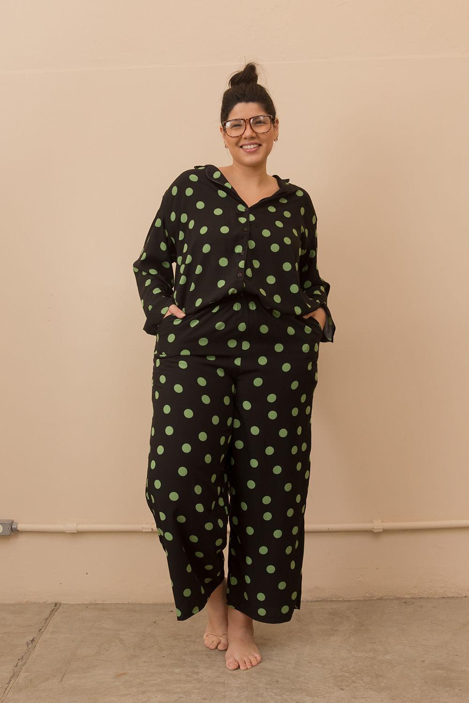 Pijama Clássico Poá Plus Size