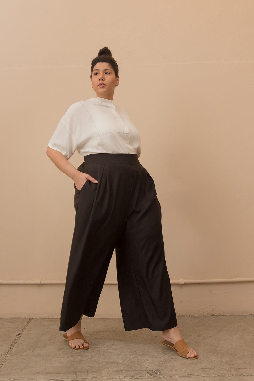 Calça Alfaiataria Pantalona Plus Size