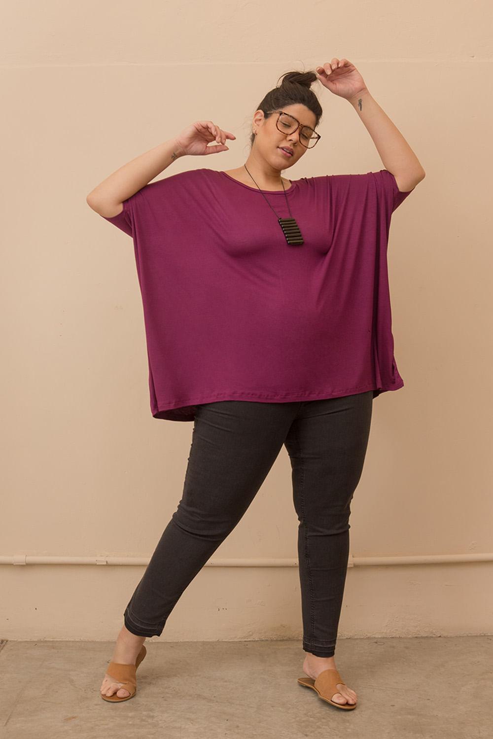 Blusa Ampla Tecido Ultra Leve Plus Size