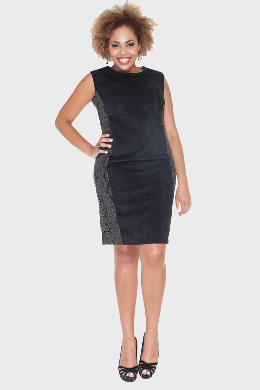 Vestido de festa para gordinhas curto preto