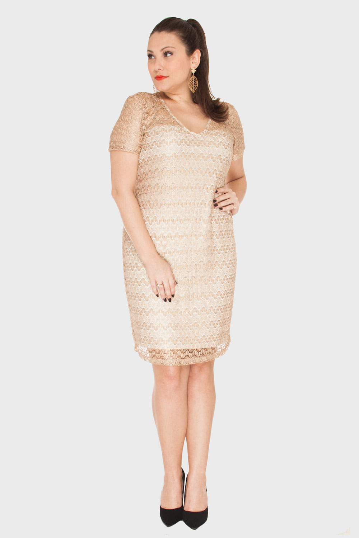 vestidos para ano novo dourados de Isabeli Fontana