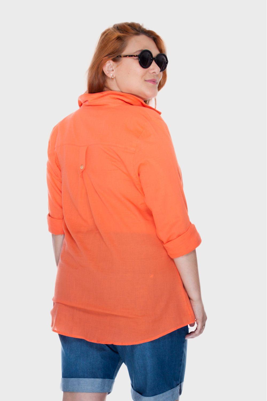 Camisa-Social-Laranja-Plus-Size_T1