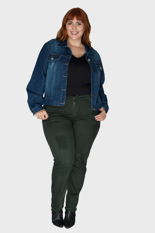 6ecf4d5d48 Jaqueta Plus Size Jeans - Flaminga