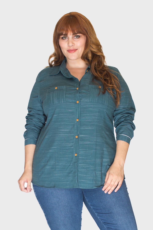 Camisa-Verde-Musgo-Plus-Size_1