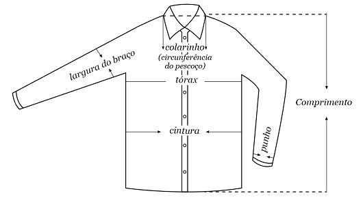 Camisas/Polos/Casacos/Jaquetas (Masculino)