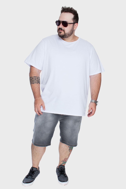 Camiseta Plus Size Algodão Orgânico Lisa - Flaminga 7051b83b52c