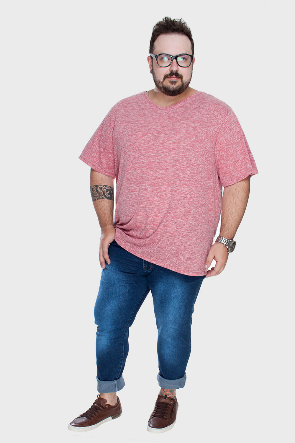 Camiseta-Gola-V-Mesclada-Plus-Size_T1