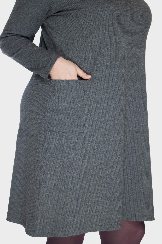 Vestido-Gola-Alta-com-Bolsos-Plus-Size_T1