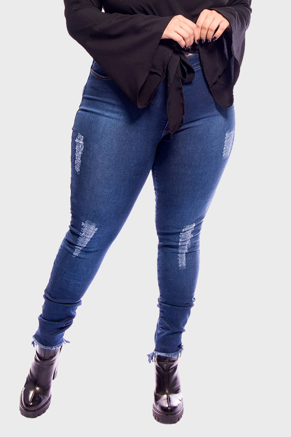 Calca-Jeans-Cintura-Alta-Super-Skinny-Destroyed-Plus-Size_T1