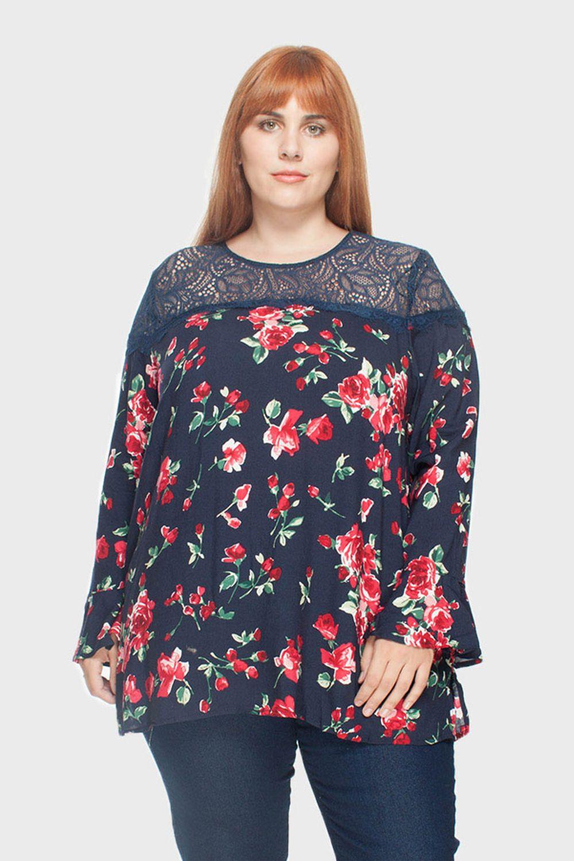 Blusa-Floral-com-Gola-Rendada-Plus-Size_1