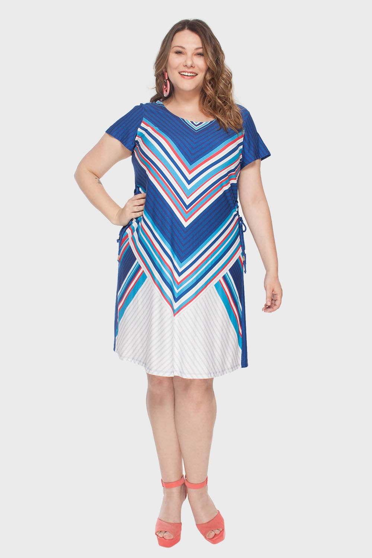 84ed1d9e270 Vestido Plus Size Triângulos - Flaminga